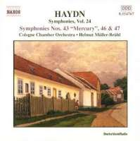 "HAYDN: Symphonies no.43 ""Mercury"", 46, 4"