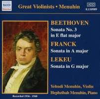 Violin Sonatas: Beethoven / Franck / Lekeu