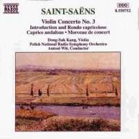 SAINT-SAENS: Volin Concerto no. 3