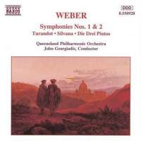WEBER: Symphonies Nos. 1 and 2, Turandot; Silvana;  Die Drei Pintos