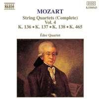MOZART: String Quartets, K. 136-138 and K. 465, 'Dissonance'