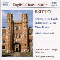 BRITTEN: Rejoice in the Lamb; Hymn to St. Cecilia; Missa Brevis, Op. 63