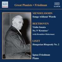 Great Pianists - Friedman, Vol 4