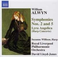"ALWYN: Symphonies Nos. 2 and 5, Harp Concerto, ""Lyra Angelica"""