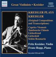Kreisler Plays Kreisler (1936-1938)