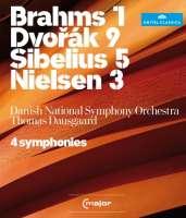 4 Symphonies , Dvorak, Brahms, Sibelius, Nielsen/ Thomas Dausgaard