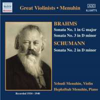 Violin Sonatas: Brahms / Schumann