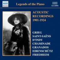 Legends of the Piano - Acoustic Recordings 1901-24 recordings