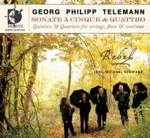 Telemann: Sonate A Cinque (Quintets & Quartets For Stings Flute and Continuo)