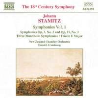 STAMITZ Johann: Symphonies Vol. 1