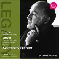 RICHTER IN LONDON - Haydn: Piano Sonata No. 62, Weber: Piano Sonata No. 3, Schumann, Chopin, Debussy