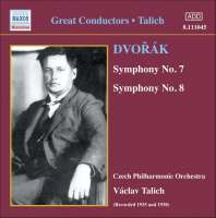 Dvorak: Symphonies 7 and 8 (1935, 1938)