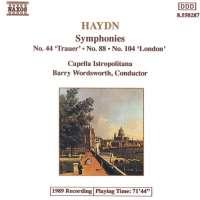 Haydn: Symphonies Nos. 44, 88, 104, Vol. 3