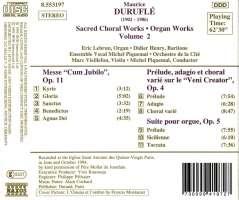 DURUFLE: Sacred Choral & Organ