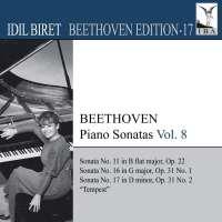 BEETHOVEN: Piano Sonatas - Nos. 11, 16 and 17, Vol. 8 (Biret Beethoven Edition, Vol. 17)