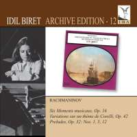 RACHMANINOV: Moments musicaux; Variations on a Theme of Corell; Preludes