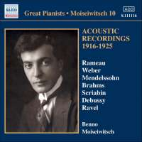 MOISEIWITSCH, Benno: Acoustic Recordings vol 10 (1916-1925)