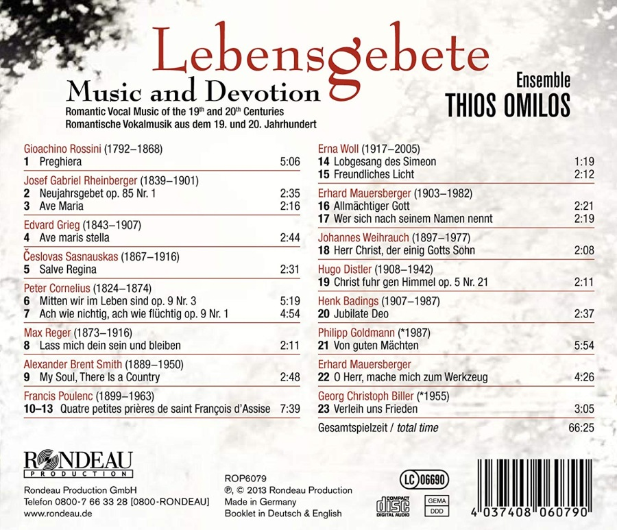 Lebensgebete - Romantic Vocal Music of the 19th and 20th Centuries - slide-1